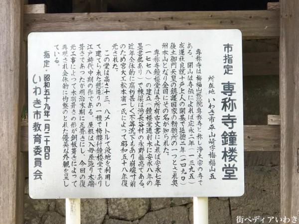福島県いわき市平山崎浄土宗の寺院-梅の名所専称寺6