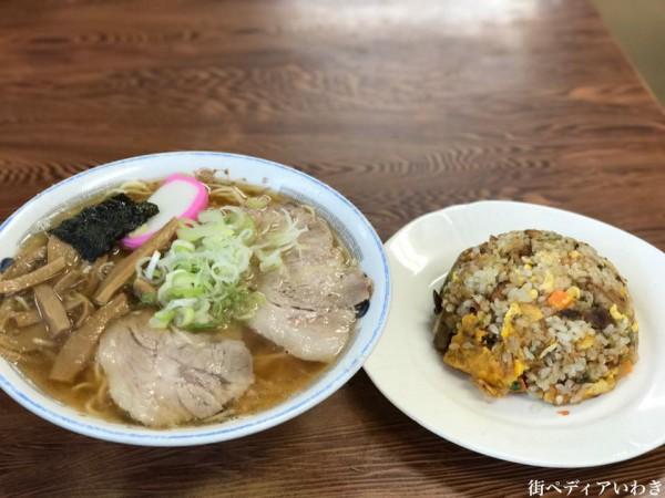 チーナン食堂の人気のラーメンそしてチャーハン(福島県いわき市小名浜)6