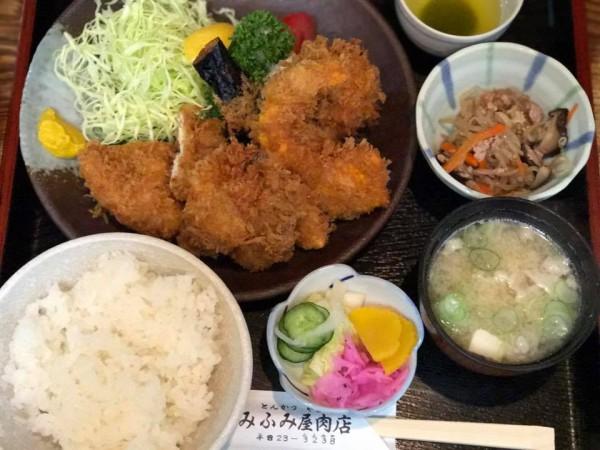 福島県いわき駅前のランチとんかつ定食などみふみ屋肉店のみふみ屋食堂-3