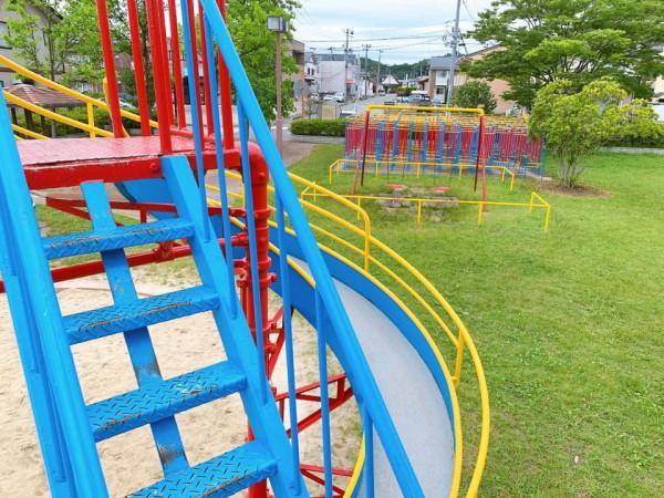 いわき市植田近くの迷路のある三ヶ下公園は子供が遊べる公園-210620-17