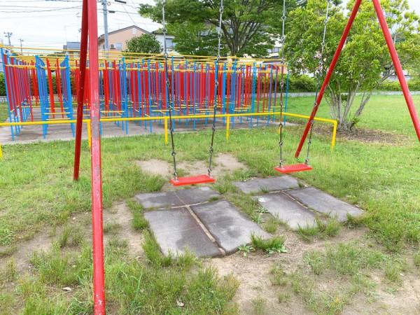 いわき市植田近くの迷路のある三ヶ下公園は子供が遊べる公園-210620-9
