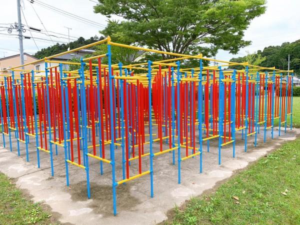 いわき市植田近くの迷路のある三ヶ下公園は子供が遊べる公園-210620-5