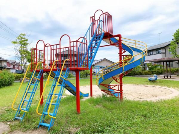 いわき市植田近くの迷路のある三ヶ下公園は子供が遊べる公園-210620-8